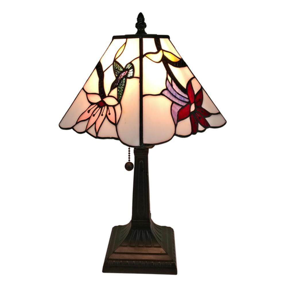 Amora lighting 225 in tiffany style mission table lamp tiffany style multicolored mission table lamp geotapseo Choice Image
