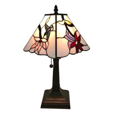 15 in. Tiffany Style Multicolored Mission Table Lamp
