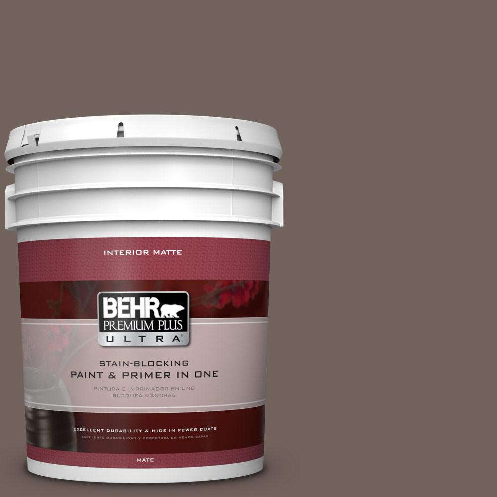 BEHR Premium Plus Ultra 5 gal. #780B-6 Mountain Ridge Flat/Matte Interior Paint