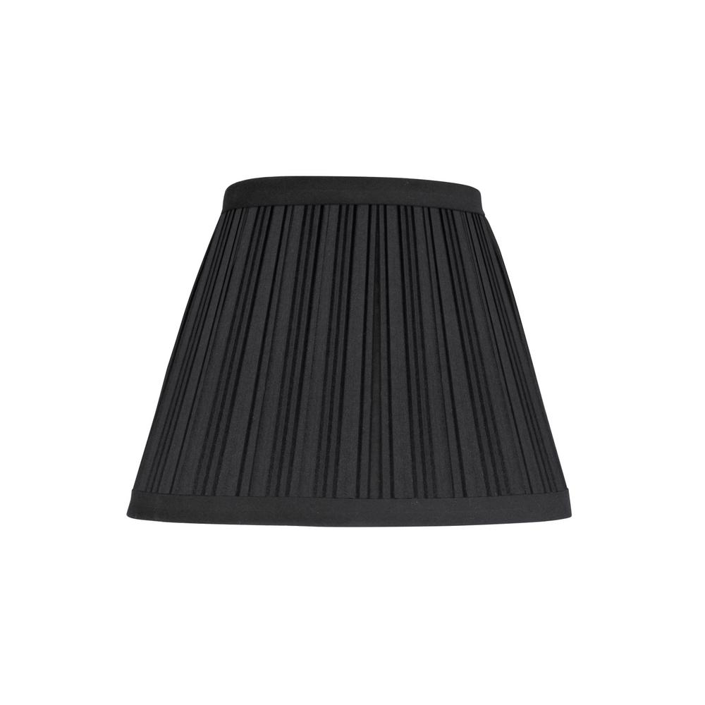 9 in. x 7 in. Black Hardback Pleated Empire Lamp Shade