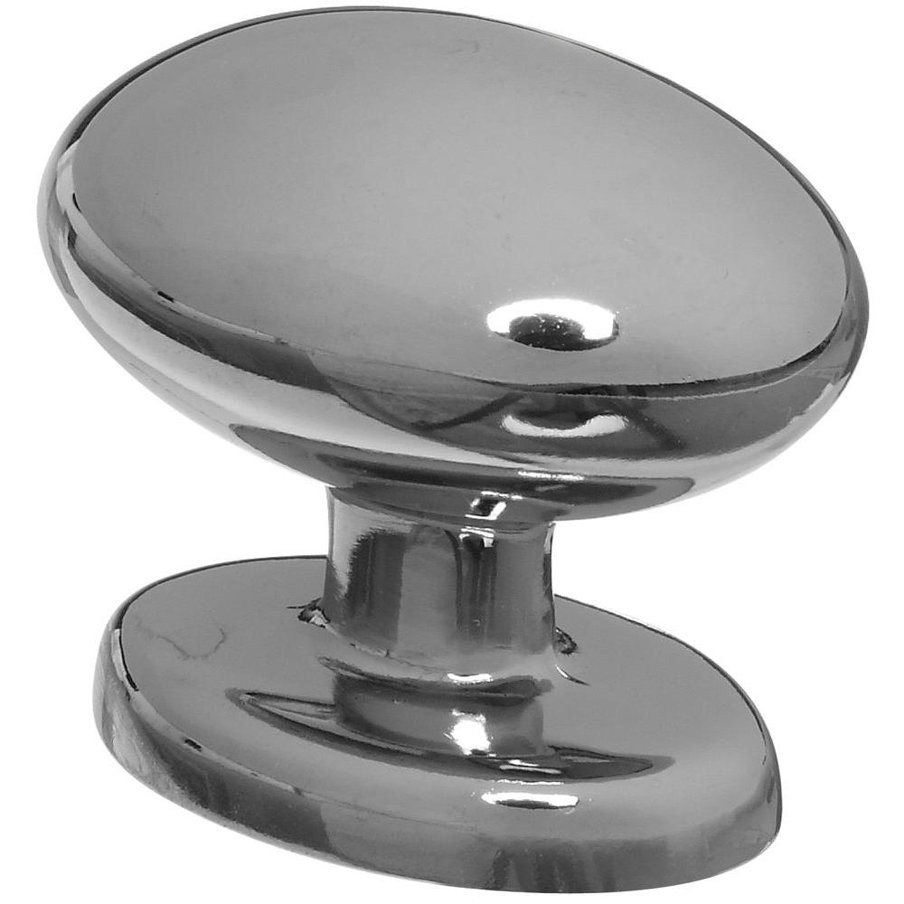 Stanley-National Hardware 1-1/3 in. Chrome Egg-Shaped Cabinet Knob ...