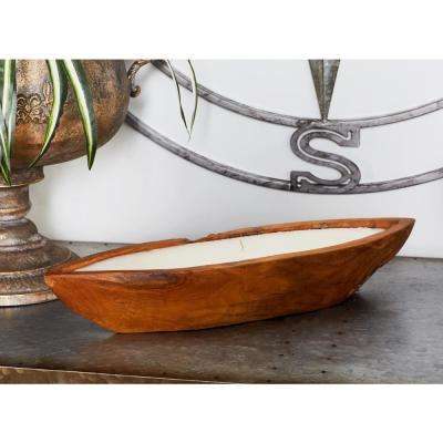Brown Boat-Shaped Wax Candle