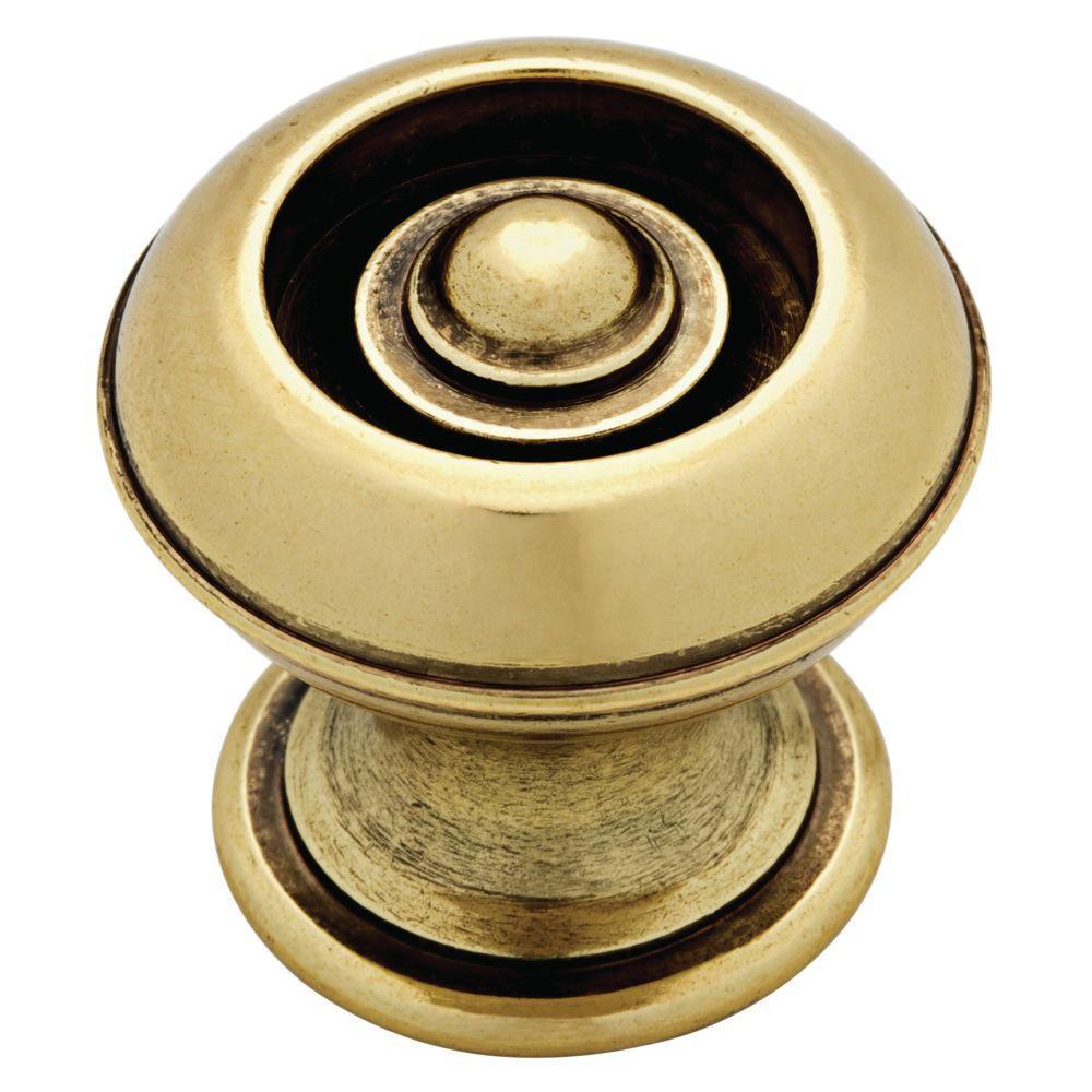 Bon Bedford Brass Button Cabinet Knob