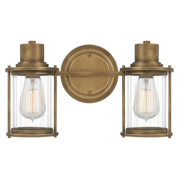 Riggs 2-Light Weathered Brass Vanity Light