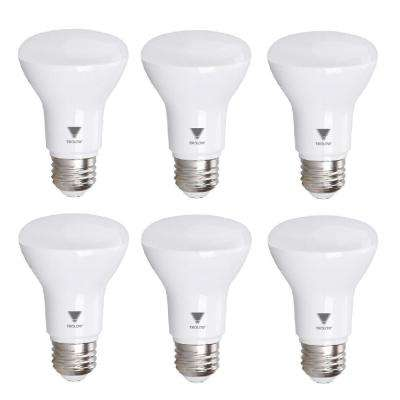 50-Watt Equivalent BR20 Dimmable LED Light Bulb Deco White (6-Pack)