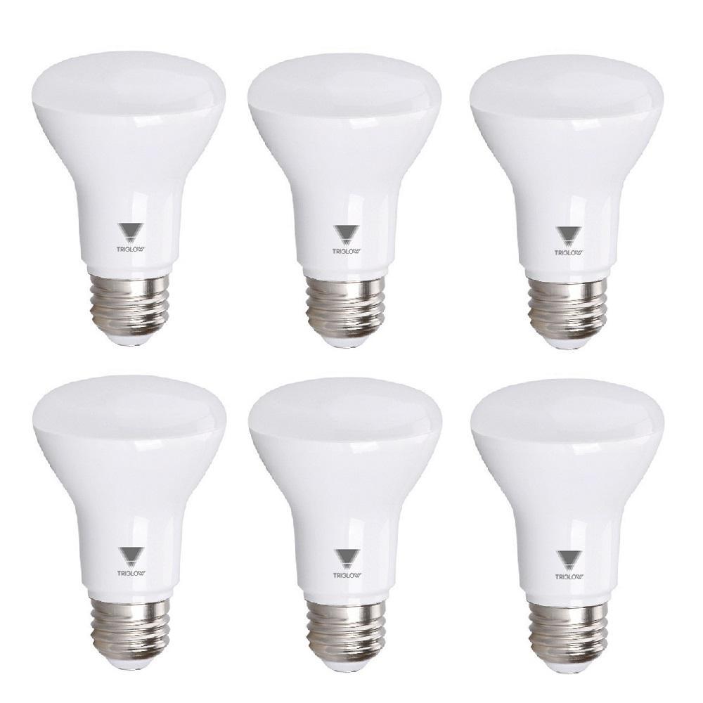 50-Watt Equivalent BR20 Dimmable LED Light Bulb Deco White (6-Pack)