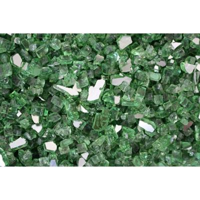 10 lbs. Bag Reflective Fire Pit Fire Glass in Green