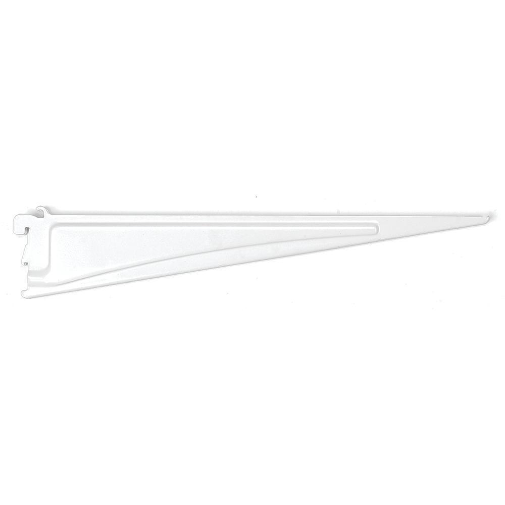 ClosetMaid ShelfTrack 16 in. x .5 in. White Shelf Bracket