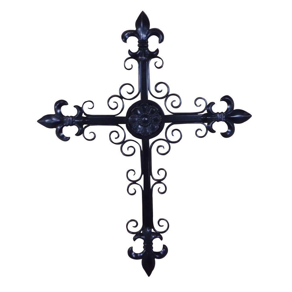 Yosemite Home Decor 23 in. x 29 in. Iron Decor Cross Accent Wall Hanging-DISCONTINUED