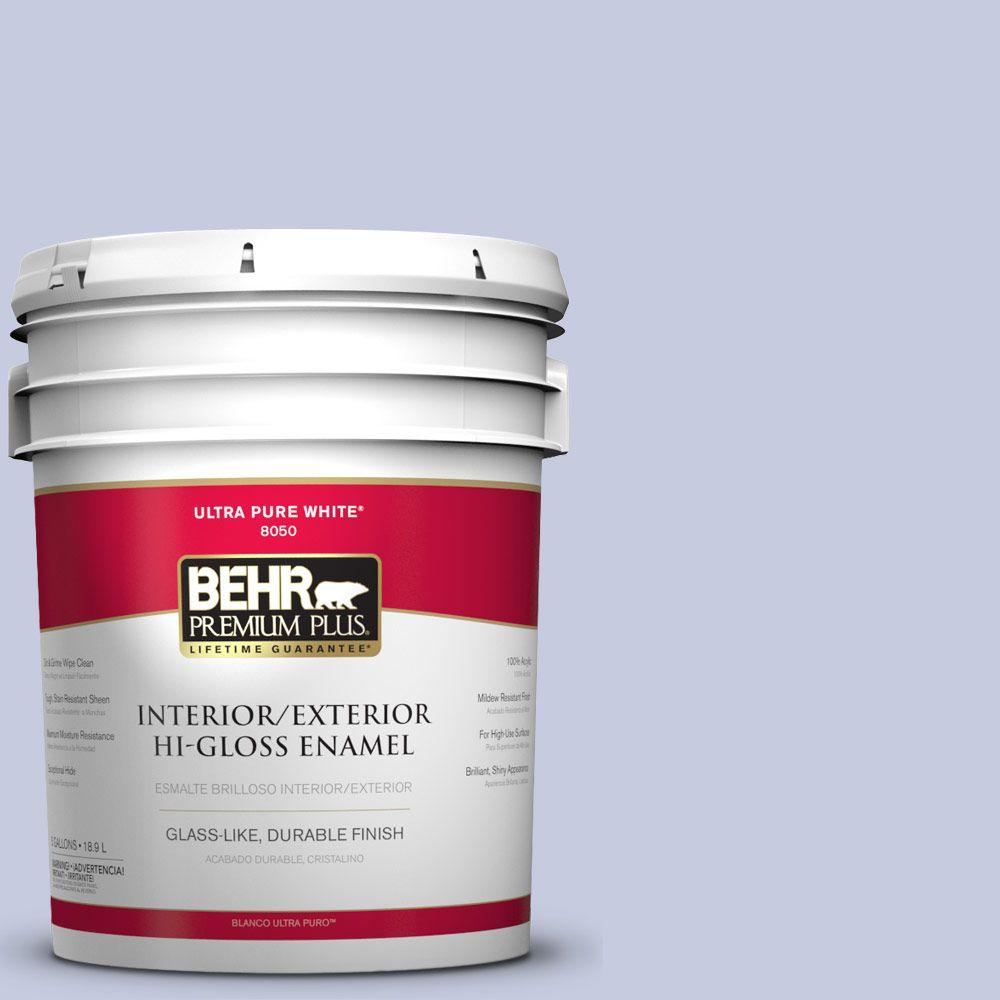 5-gal. #BIC-08 Sweet Lavender Hi-Gloss Enamel Interior/Exterior Paint