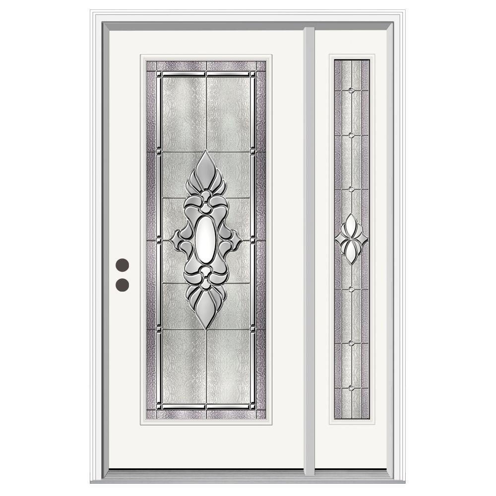 Jeld wen 50 in x 80 in full lite langford primed steel for Jeld wen front entry doors