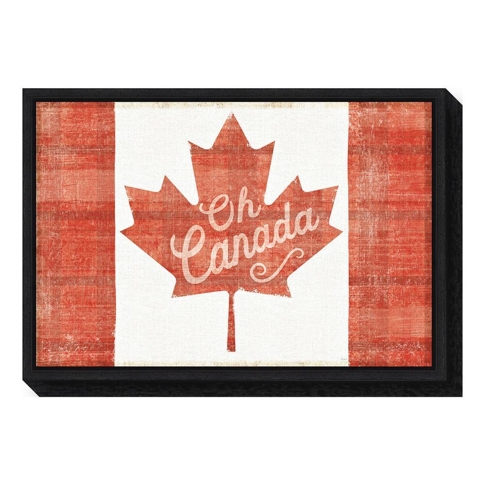 """""""Oh Canada Flag"""" by Sue Schlabach Framed Canvas Wall Art"""