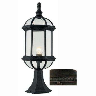 Wentworth 1-Light Rust Post Mount Lantern