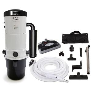 Prolux CV12000 White Central Vacuum Power Unit with Electric Hose and Black Power Nozzle Kit by Prolux
