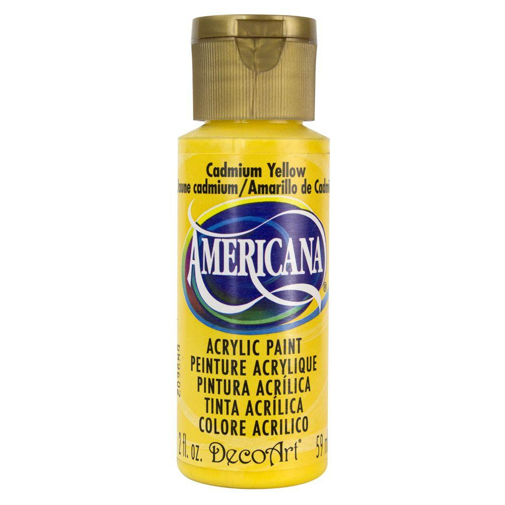 decoart americana 2 oz cadmium yellow acrylic paint dao10 3 the