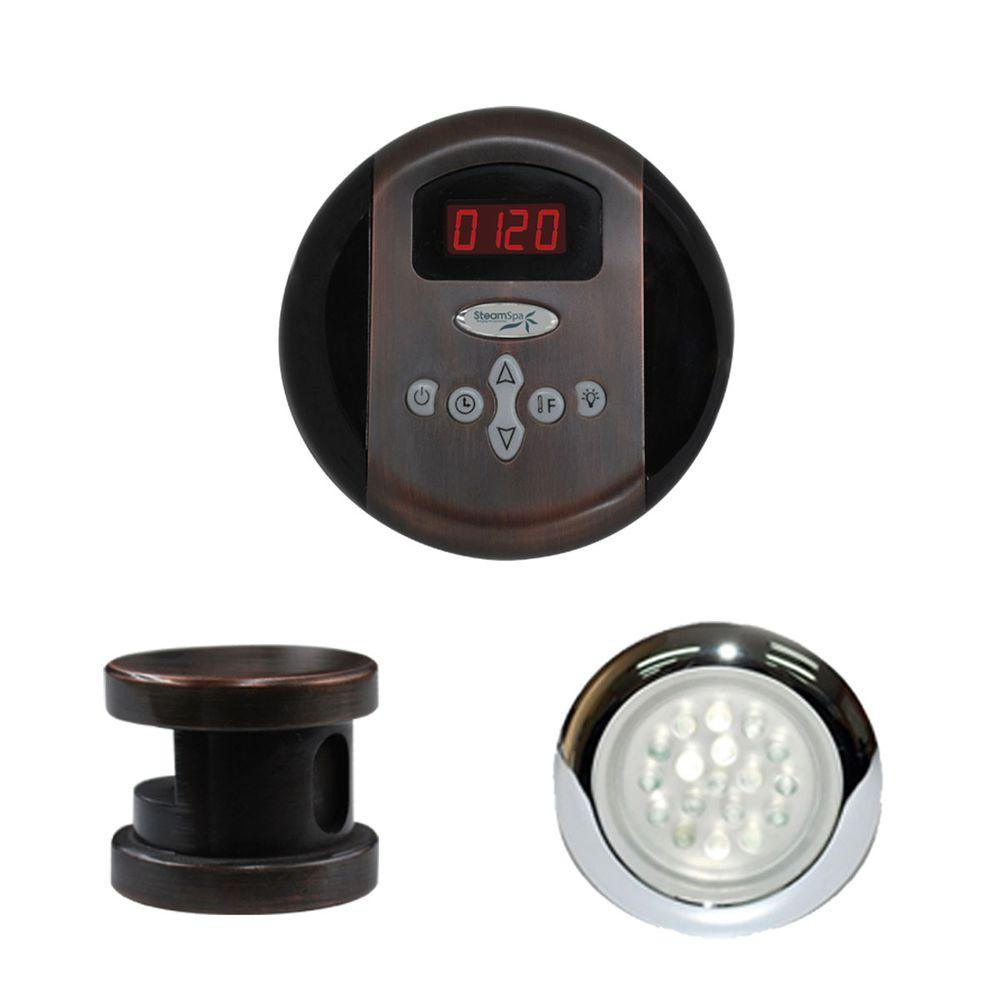 Indulgence Programmable Steam Bath Generator Control Kit in Oil Rubbed Bronze