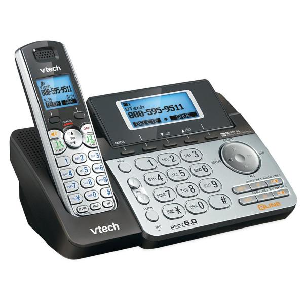 Cordless 2-Line Phone System with Digital Answering System, Single-Handset System