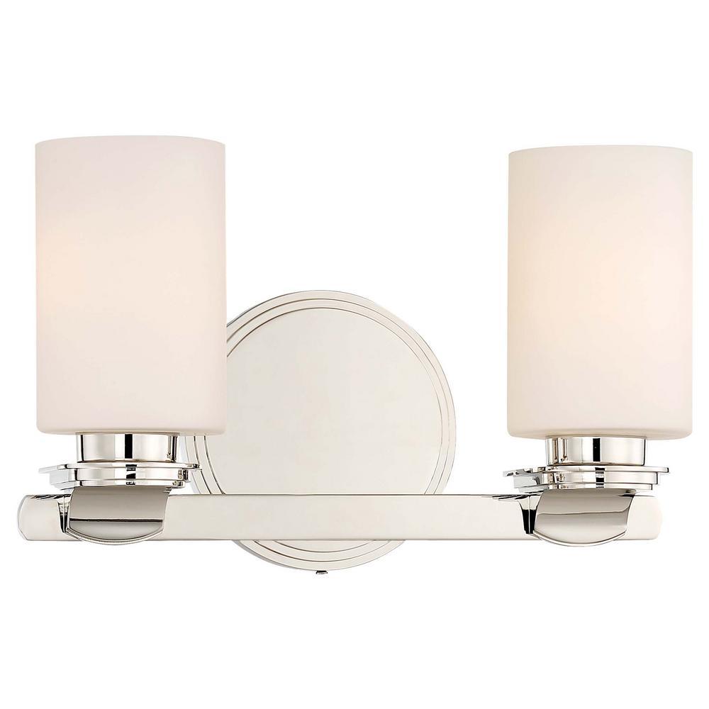 Minka Lavery Arrondir 2 Light Polished Nickel Bath Light