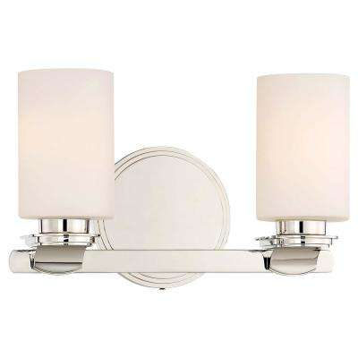 Arrondir 2-Light Polished Nickel Bath Light