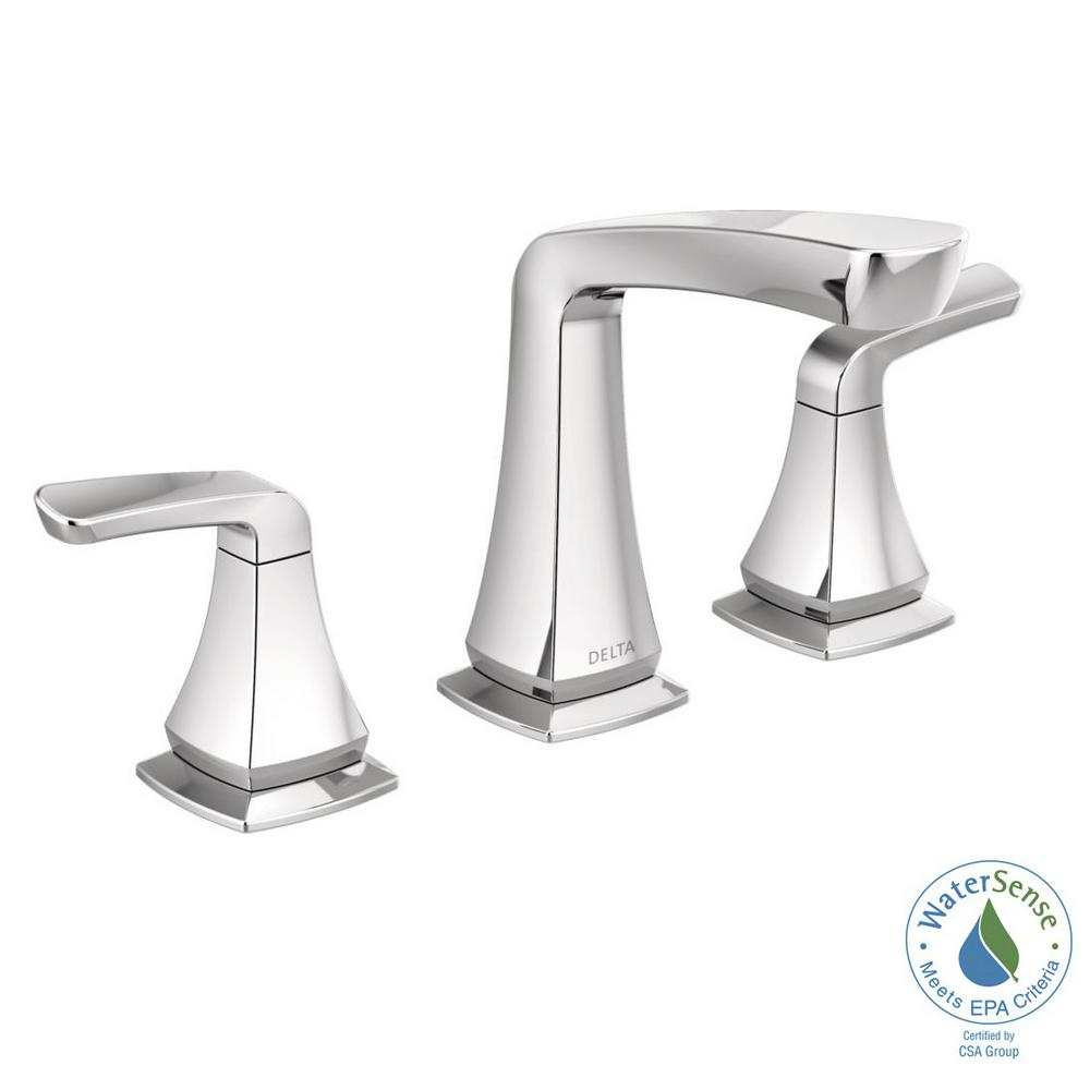 Delta Vesna 8 In. Widespread 2 Handle Bathroom Faucet In Chrome