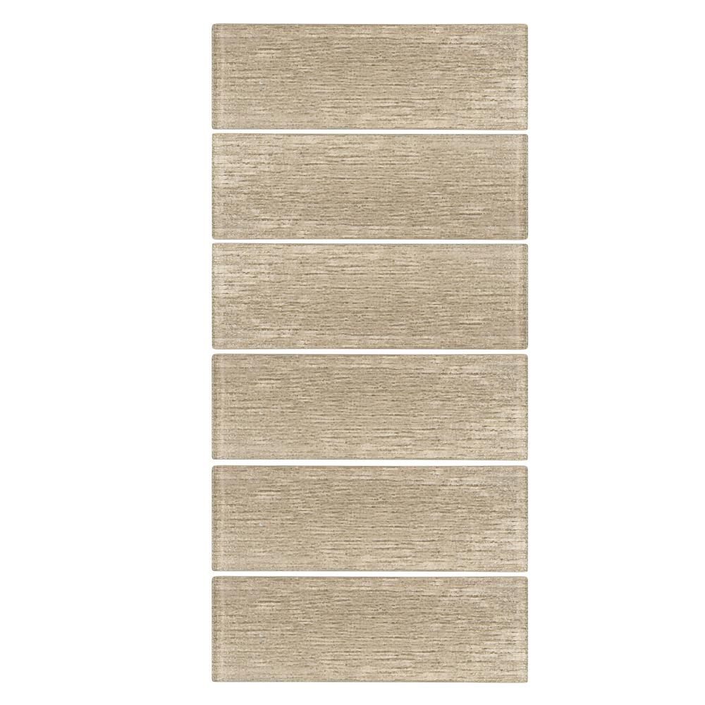 Edgewood 3 in. x 8 in. Glass Wall Tile (6-Pieces/Pack)