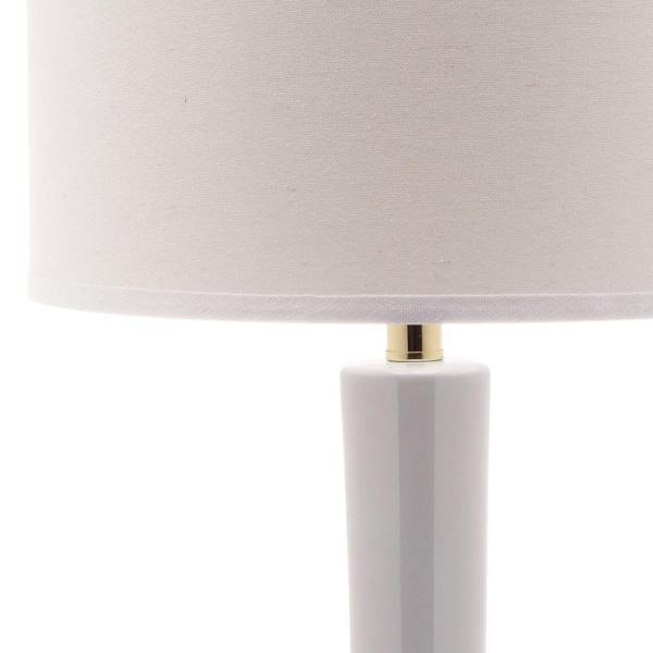 Safavieh Mae 30 5 In White Long Neck Ceramic Table Lamp With Off White Shade Set Of 2 Lit4091a Set2 The Home Depot