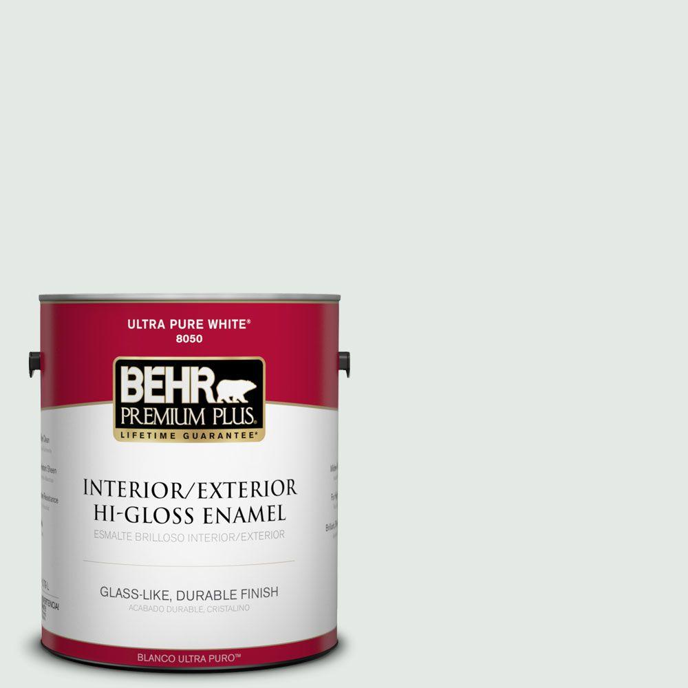 BEHR Premium Plus 1-gal. #BL-W7 Wind Chill Hi-Gloss Enamel Interior/Exterior Paint