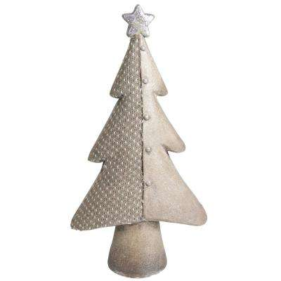 15 in. Brown Textured Eco-Friendly Christmas Table Top Tree