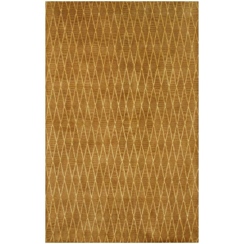 BASHIAN Greenwich Collection Wired Diamonds Mocha 5 ft. 6 in. x 8 ft. 6 in. Area Rug