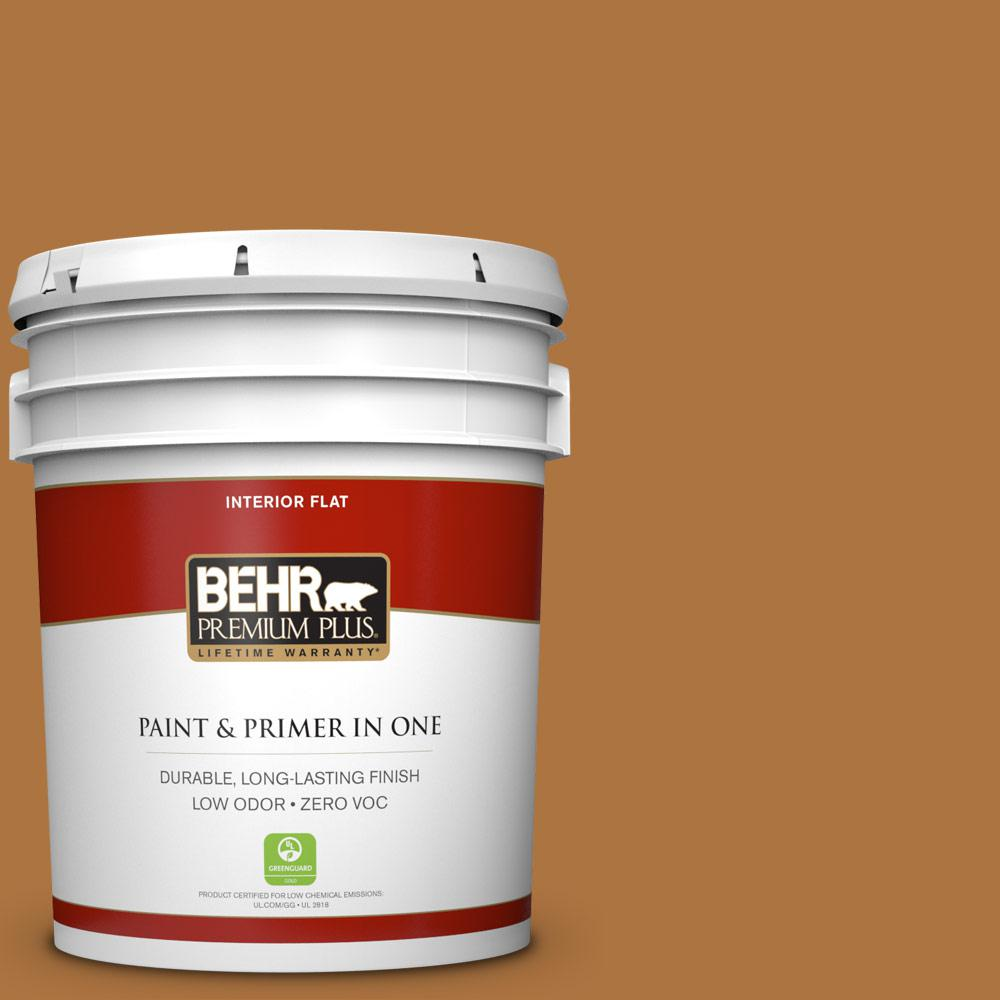 5 gal. #M250-7 Blonde Wood Zero VOC Flat Interior Paint