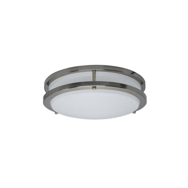 14 in. 1-Ceiling Light Double Ring 24-Watt Dimmable Selectable LED Flush Mount CRI80 1680 Lumens CCT 4000K