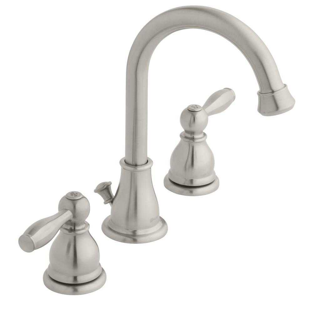 Mandouri 8 in. Widespread 2-Handle High-Arc Bathroom Faucet in Brushed Nickel