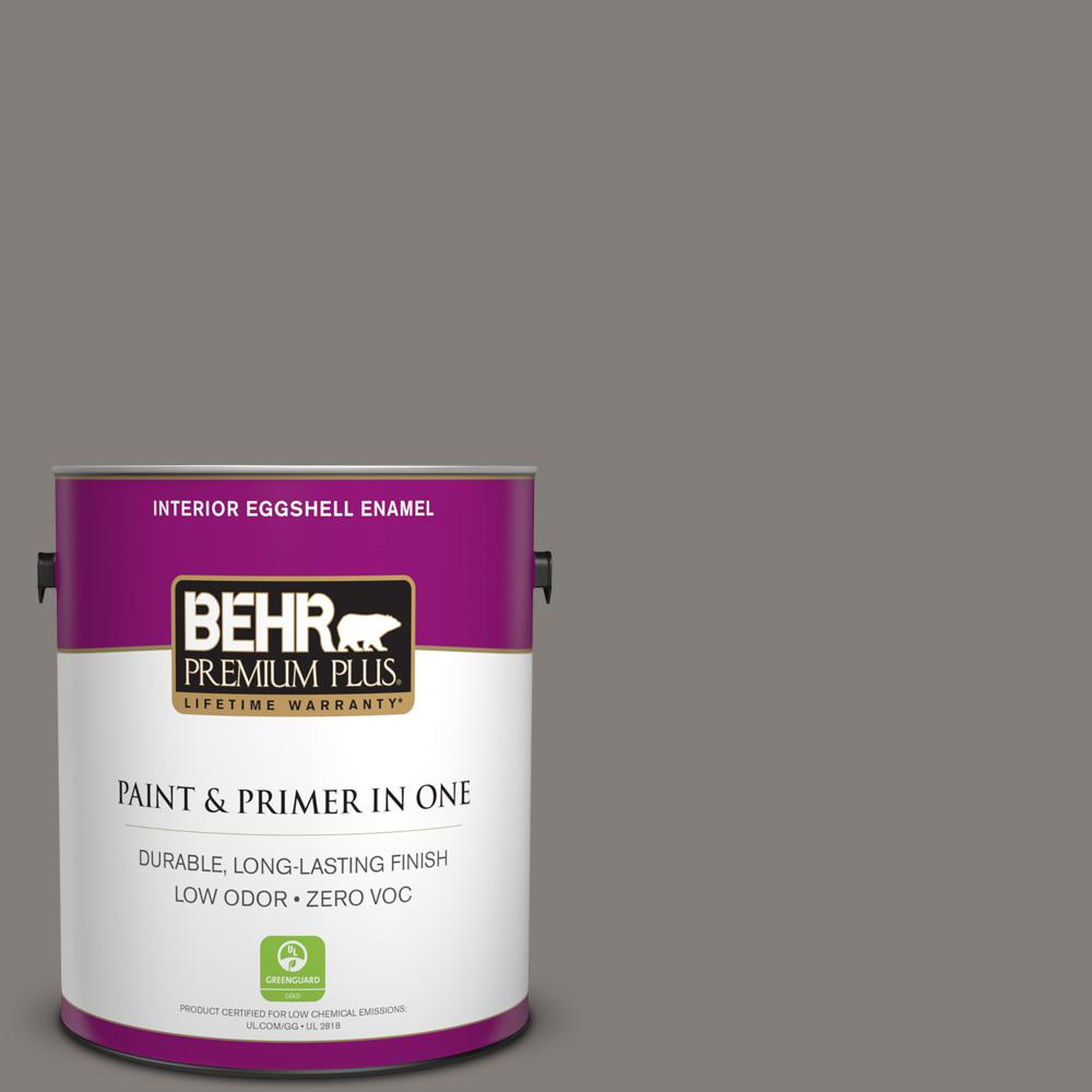 1 gal. #PPU18-17 Suede Gray Zero VOC Eggshell Enamel Interior Paint