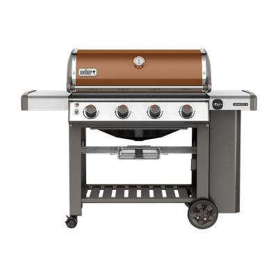 Genesis II E-410 4-Burner Propane Gas Grill in Copper with Built-In Thermometer