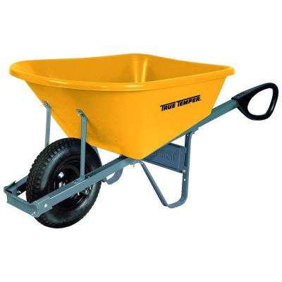 6 cu. ft. Poly Wheelbarrow with Total Control Handles