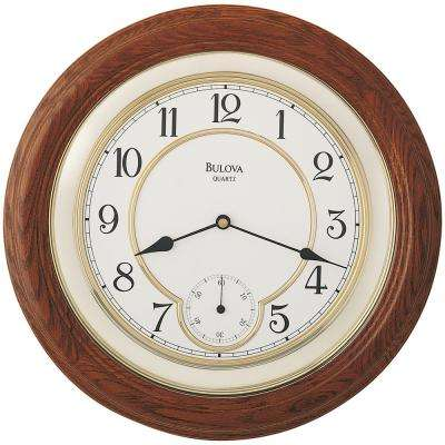 14 in. Solid Oak Wall Clock