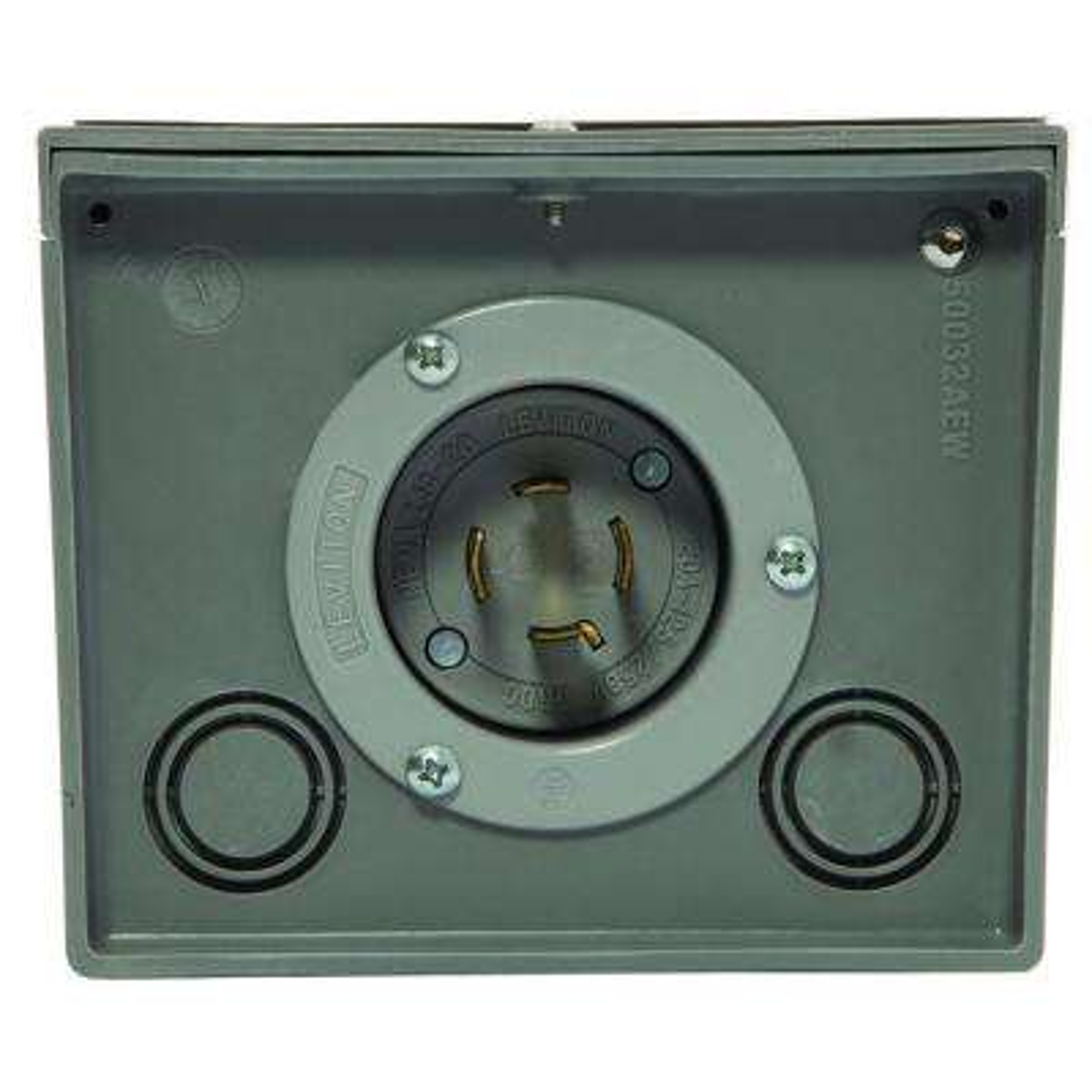 20-Amp Resin Power Inlet Box