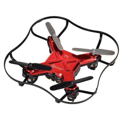 F2 Mini Pocket Drone 4CH 6 Axis Gyro RC Micro Quadcopter with 3D Flip, Intelligent Fixed Altitude (Red)