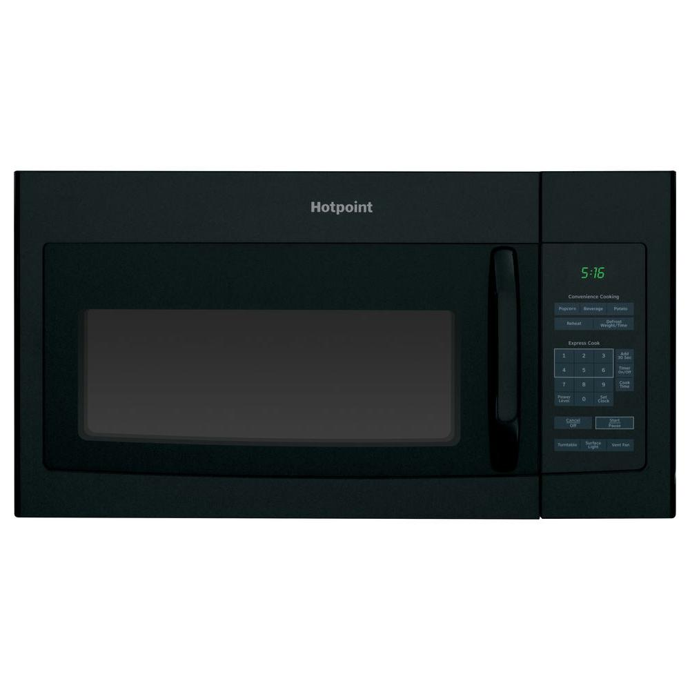 Hotpoint 1 6 Cu Ft Over The Range Microwave In Black