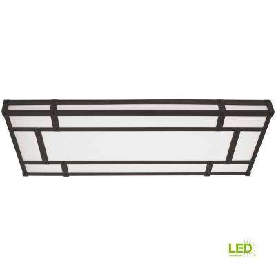 128-Watt Natural Iron Integrated LED Ceiling Flush Mount