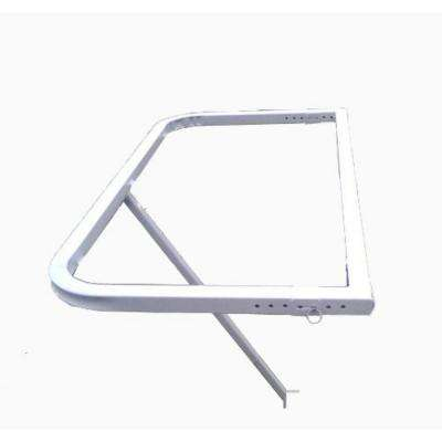 Luxury Glass Railing Patio Table with White Frame