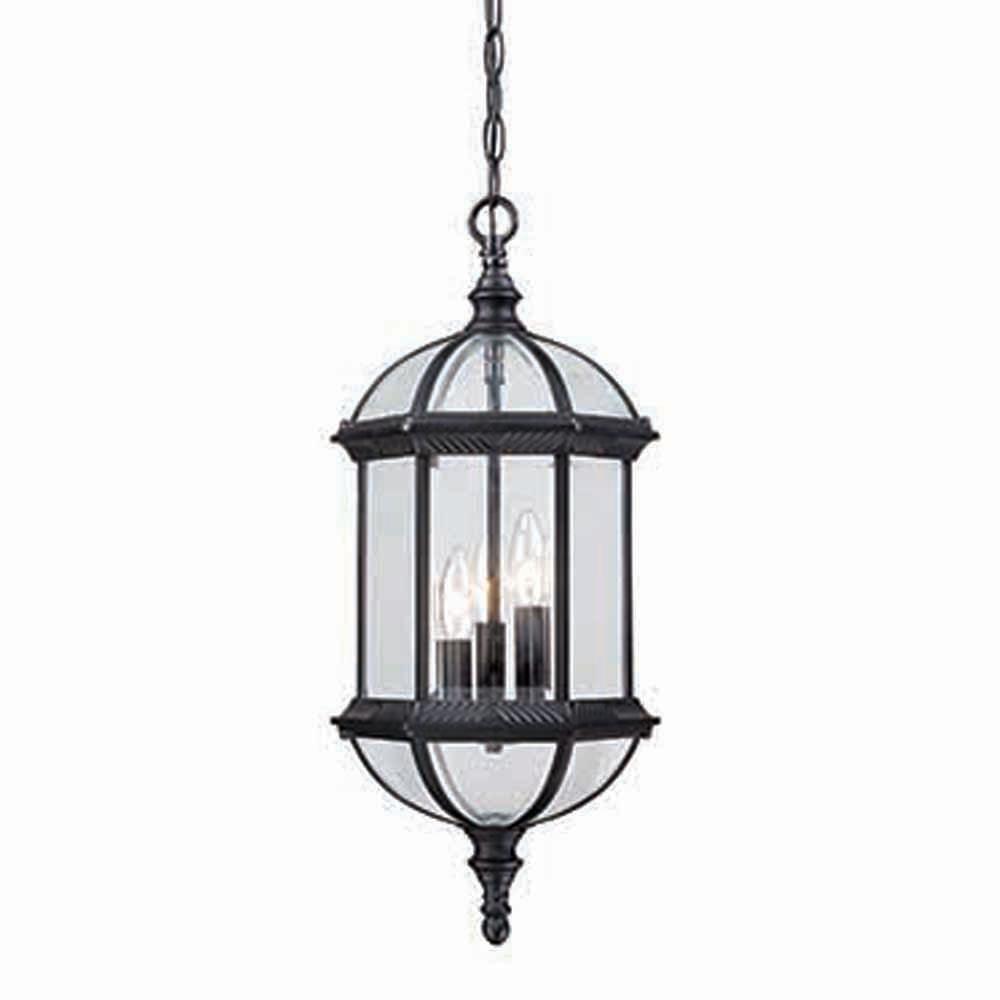 Acclaim Lighting Dover 3 Light Matte Black Hanging Lantern