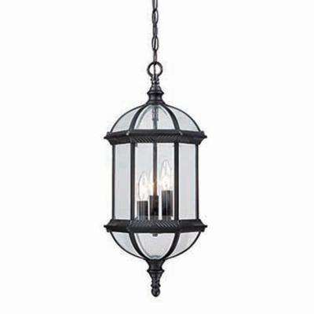 Dover 3-Light Matte Black Hanging Lantern