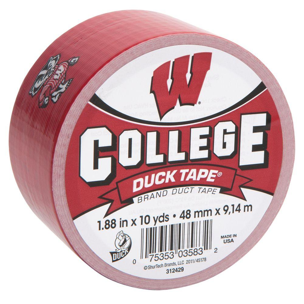 Duck College 1-7/8 in. x 10 yds. University of Wisconsin Duct Tape