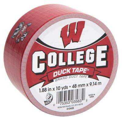 College 1-7/8 in. x 30 ft. University of Wisconsin Duct Tape (6-Pack)