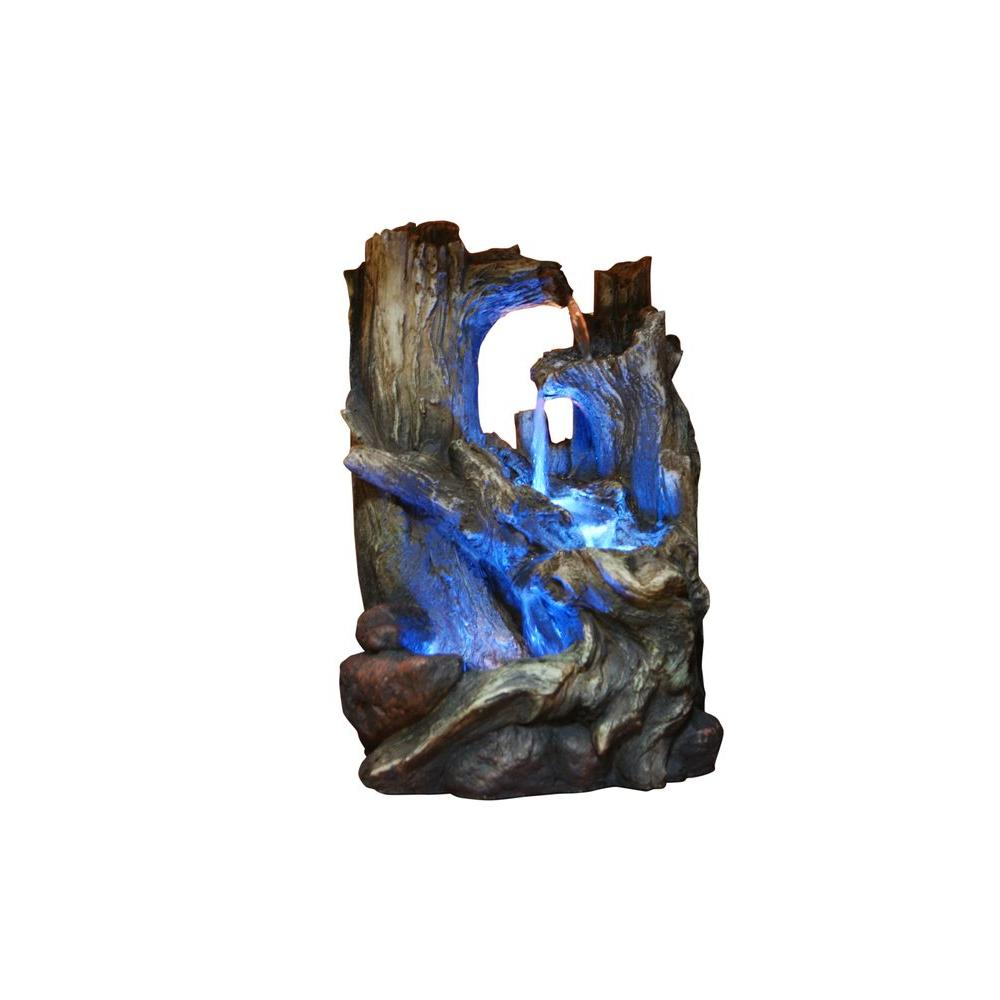 Alpine Tree Trunks Fountain with LED Light-WIN786S