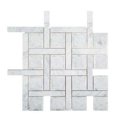 Foxwood Manor 11-7/8 in. x 11-7/8 in. x 8 mm Marble Mosaic Tile