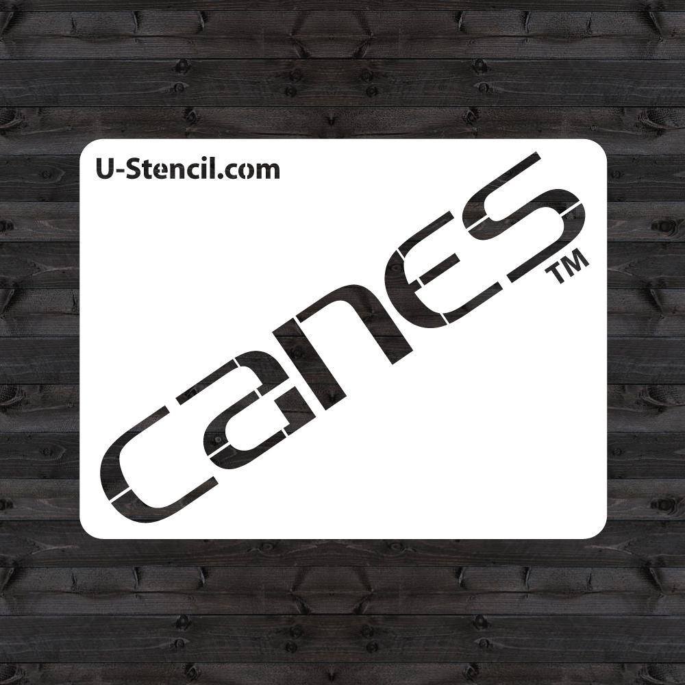 """Miami """"CANES"""" Mini Stencil"""