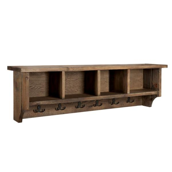 Alaterre Furniture Modesto 48 in. Coat Hooks with Storage in Natural
