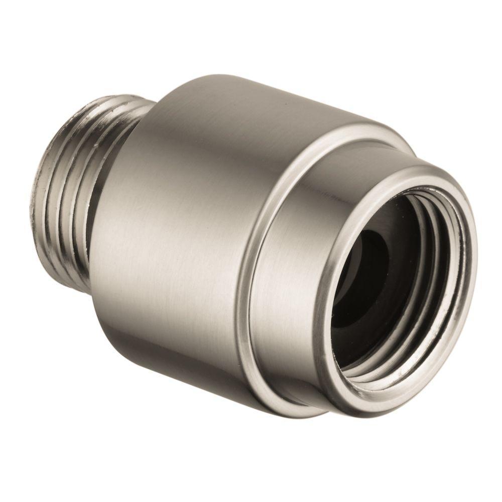 1/2 in. External Brass NPT Pressure Vacuum Breaker in Brushed Nickel